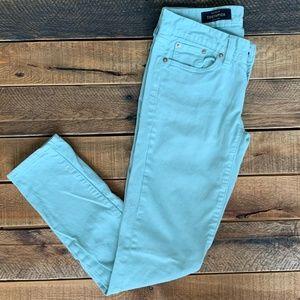 J.Crew toothpick mint green pants, size 25/0